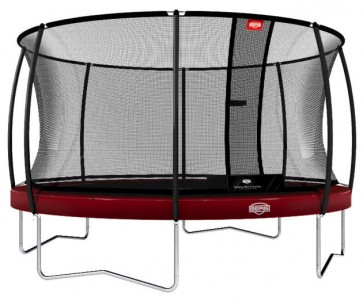 Trampolina BERG Elite+ 430 Tattoo z T-series czerwona