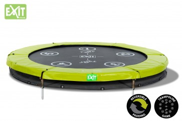 Trampolina Twist Ground 305 EXIT (zielono-szara)