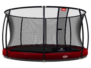 Trampolina BERG InGround Elite+ 430 z siatką T-series czerwona